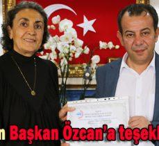 EKMUD'dan Başkan Özcan'a teşekkür belgesi