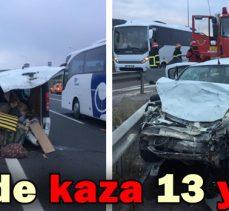 Tem'de Kaza 13 Yaralı