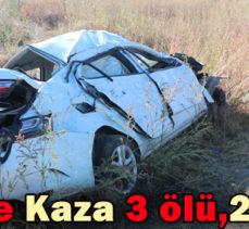 Tem'de Kaza 3 ölü,2 yaralı