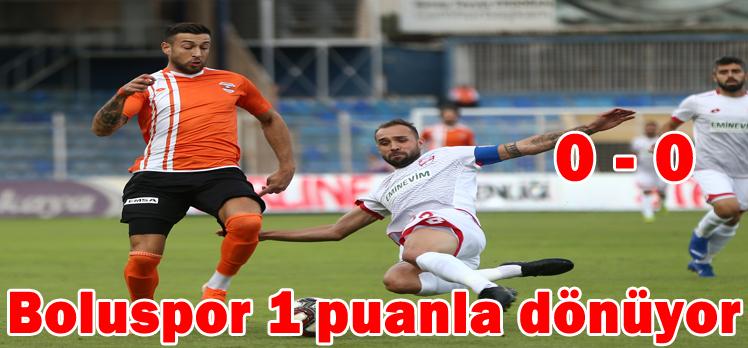 Adanaspor: 0 – 0 Boluspor