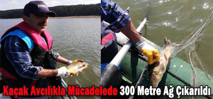 Kaçak Avcılıkla Mücadelede 300 Metre Ağ Çıkarıldı