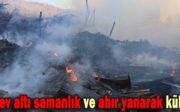 Dört ev altı samanlık ve ahır yanarak kül oldu