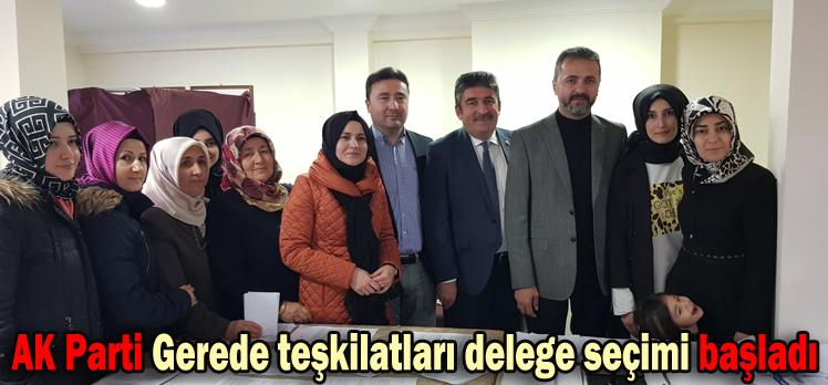 AK Parti Gerede teşkilatları delege seçimi başladı