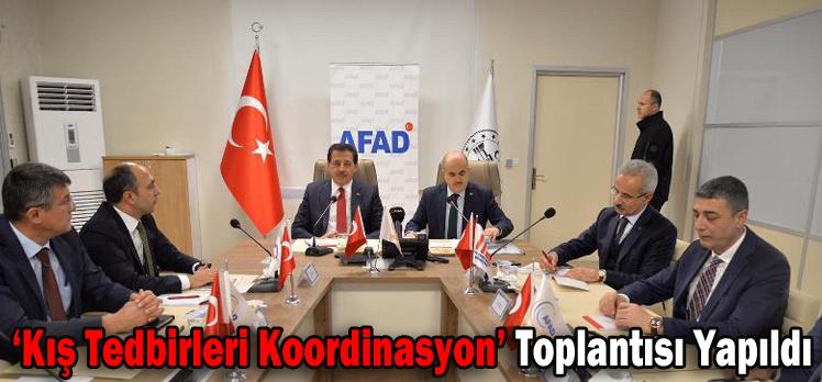 'Kış Tedbirleri Koordinasyon' Toplantısı Yapıldı