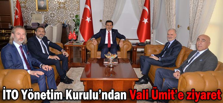 İTO Yönetim Kurulu'ndan Vali Ümit'e ziyaret