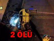 Bolu'da Gece Yarısı Feci Kaza: 2 ölü