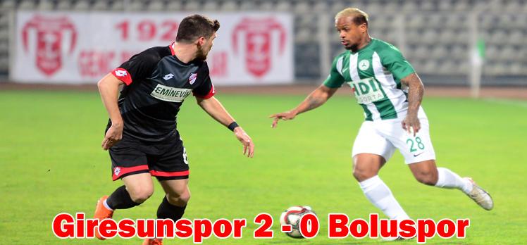 Giresunspor 2 – 0 Boluspor