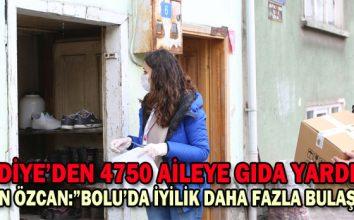BELEDİYE'DEN 4750 AİLEYE GIDA YARDIMI