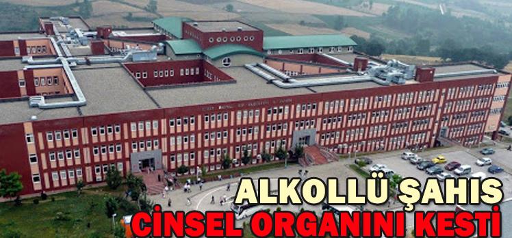 ALKOLLÜ ŞAHIS CİNSEL ORGANINI KESTİ