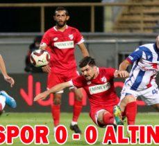 BOLUSPOR 0 – 0 ALTINORDU