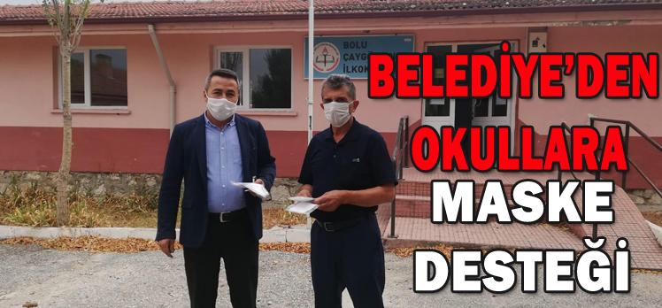 BELEDİYE'DEN OKULLARA MASKE DESTEĞİ