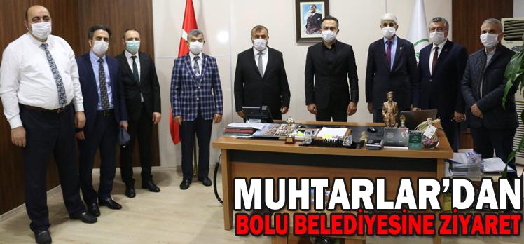 MUHTARLAR'DAN BOLU BELEDİYESİNE ZİYARET