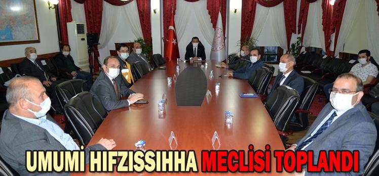 UMUMİ HIFZISSIHHA MECLİSİ TOPLANDI