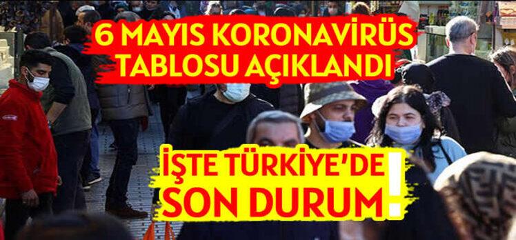 6 Mayıs Türkiye'de koronavirüs tablosu