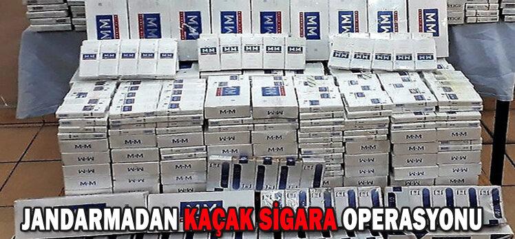 JANDARMADAN KAÇAK SİGARA OPERASYONU
